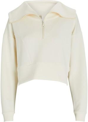 Lanston Cropped Half-Zip Sweatshirt