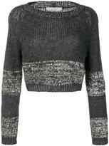 D-Exterior D.Exterior - cropped jumper - women - Nylon/Polyester/Wool/Kid Mohair - XS