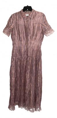 Bottega Veneta Purple Silk Dresses