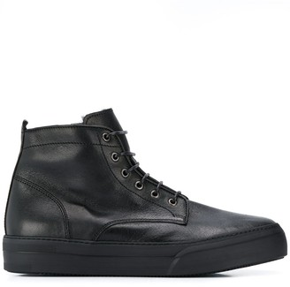 Henderson Baracco Shearling Lined High Top Boots