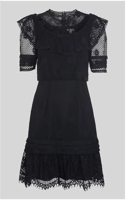 Whistles Mariah Lace Ruffle Dress
