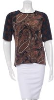A.L.C. Silk Paisley Top