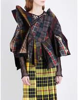 Junya Watanabe Tartan sculptured wool jacket