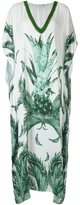BRIGITTE v-neck printed kaftan - women - Polyester - PP