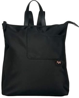 Radley London Pocket Essentials - Medium Zip Top Backpack (Black) Backpack Bags