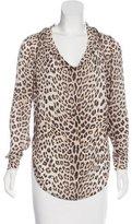Haute Hippie Silk Leopard Print Top