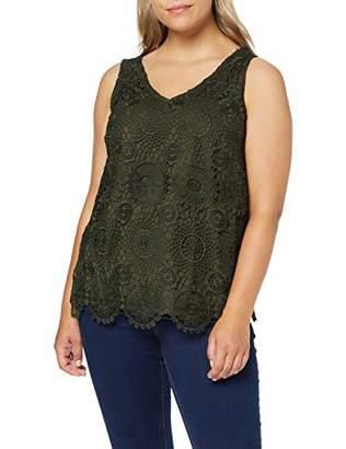 Dorothy Perkins Women's Guipure LACE Vest Khaki Top, (Size:)