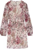 IRO Deylfe ruffled printed silk-georgette mini dress