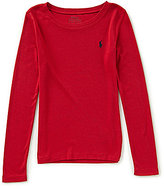 Ralph Lauren Big Girls 7-16 Long-Sleeve Tee