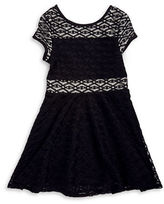 Sally Miller Girls 7-16 Embossed Fit-and-Flare Dress