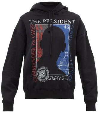 Vetements President-print Hooded Sweatshirt - Womens - Black