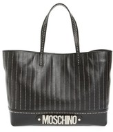 Moschino Studded Leather Tote - White