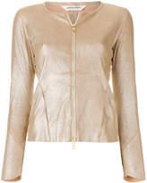 Giorgio Brato collarless zipped metallic jacket