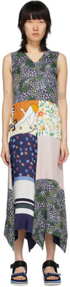 See by Chloe Multicolor Sleeveless Patchwork Dress
