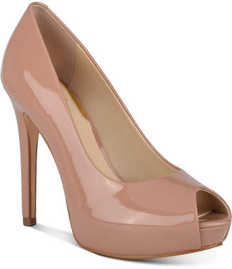 GUESS Women Honora Peep-Toe Platform Pumps Women Shoes