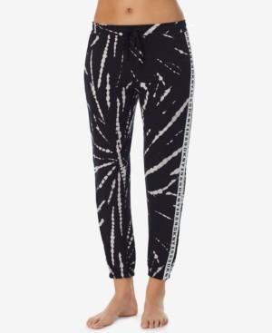 DKNY Loungewear Knit Tuxedo Stripe Jogger Lounge Pants