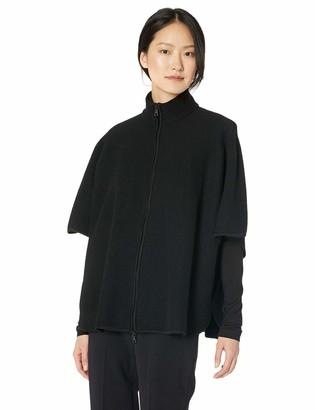 Anne Klein Women's Boiled Wool Zip Front Cape