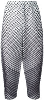 Pleats Please By Issey Miyake cropped trousers