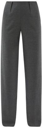 Altuzarra Luther Wool-blend Wide-leg Trousers - Grey