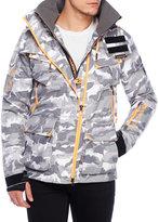 Superdry Grey Camouflage Hooded Jacket