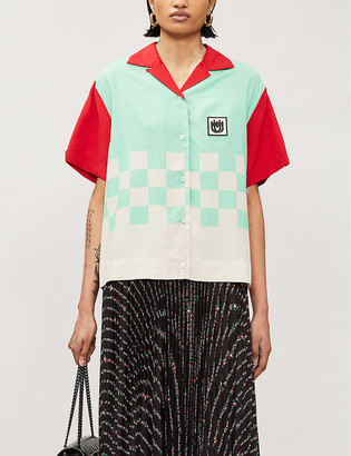 Miu Miu Checked woven shirt