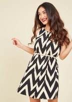Great Wavelengths Striped Dress in Black in 4X