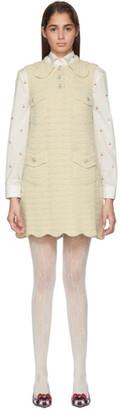 Gucci Off-White Crochet Wool Dress
