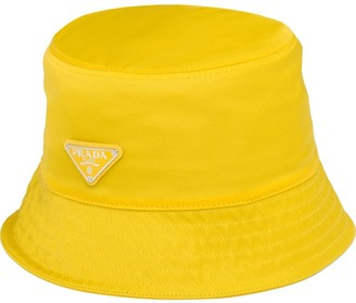 Prada Logo Triangle Bucket Hat