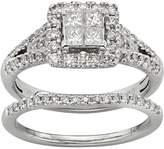 Kohl's IGL Certified Diamond Square Halo Engagement Ring Set in 14k White Gold (1 Carat T.W.)