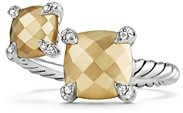 David Yurman Chatelaine Bypass Ring with 18K Gold and Diamonds