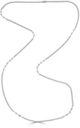 "Zydo Luminal Long 18k White Gold Diamond Necklace, 44""L"