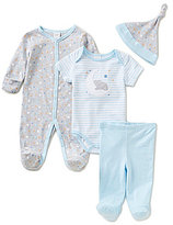 Starting Out Baby Boys Newborn-6 Months Sleepy Elephant 4-Piece Layette Set