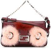 Fendi micro 'Baguette' crossbody bag - women - Fox Fur/Mink Fur/Nappa Leather/metal - One Size