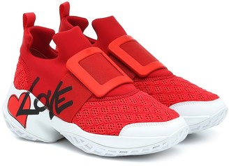 Roger Vivier Viv Run Lovely neoprene sneakers