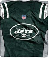 Northwest Company New York Jets Jersey Plush Raschel Throw