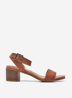 Dorothy Perkins Womens Wide Fit Tan 'Barley' Comfort Heel Sandals
