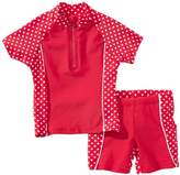 Playshoes Girl's UV Sun Protection 2 Piece Polka Dot Swim Set Swimsuit,(Manufacturer Size:86/92 (12-24 Months))