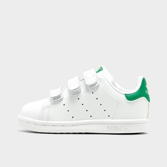 adidas Kids' Toddler Stan Smith Hook-and-Loop Casual Shoes