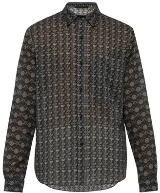 Stella McCartney Paisley-print Cotton-blend Shirt - Mens - Black Multi