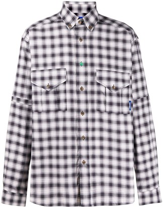 Paccbet Check Plaid Long-Sleeve Shirt