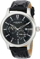 Akribos XXIV Men's AK537BK Ultimate Stainless Steel Automatic Multi-Function Strap Watch