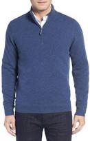 John W. Nordstrom Regular Fit Half Zip Cashmere Sweater (Big)