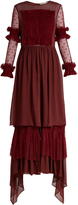 Preen Line Cecilie ruffle-trimmed crepe maxi dress