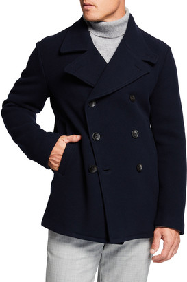 Giorgio Armani Men's Wool Fleece Peacoat