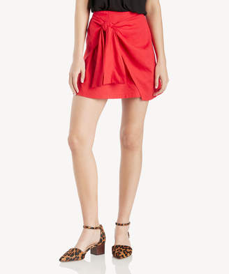 Moon River Women's Wrap Skirt In Color: Red Size XS From Sole Society