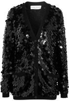 Sonia Rykiel Sequined Wool Cardigan - Black