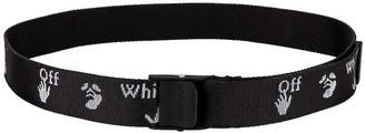 Off-White OW Logo Belt in Black & Black | FWRD