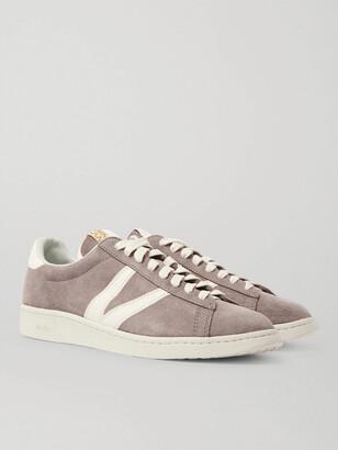 Visvim Corda-Folk Leather-Trimmed Suede Sneakers