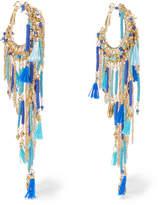 Rosantica Tortuga Tasseled Beaded Gold-tone Earrings