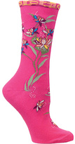Ozone Women's Floral Wave Crew Sock (2 Pairs)